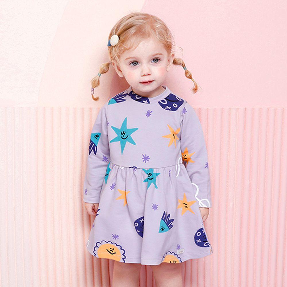 韓國 milke mile - (剩110,120)彩色海星洋裝-紫
