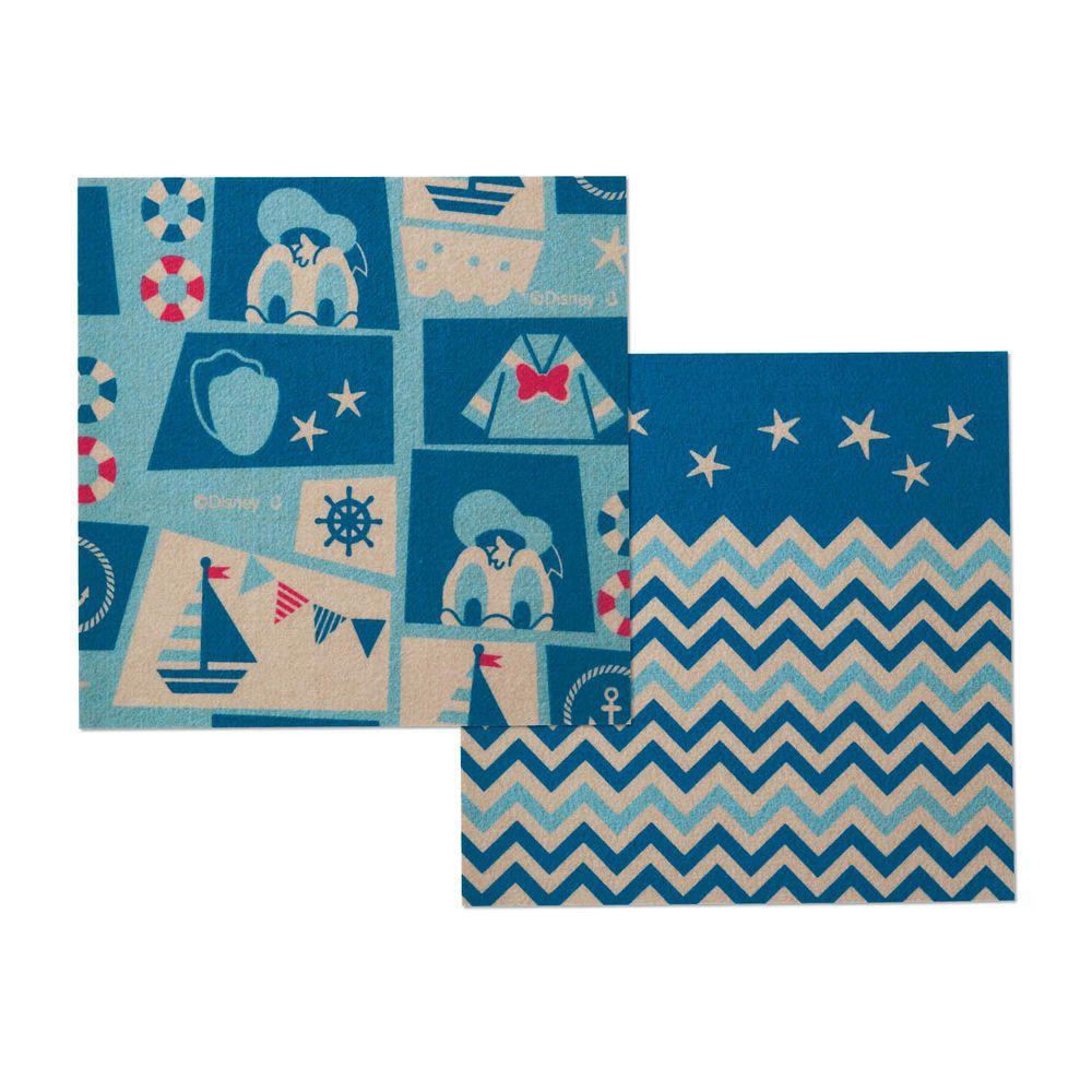 日本千趣會 - 迪士尼 日本製室內輕薄地毯(可機洗)-唐老鴨 (30x30cm)-各色2枚(共6枚)