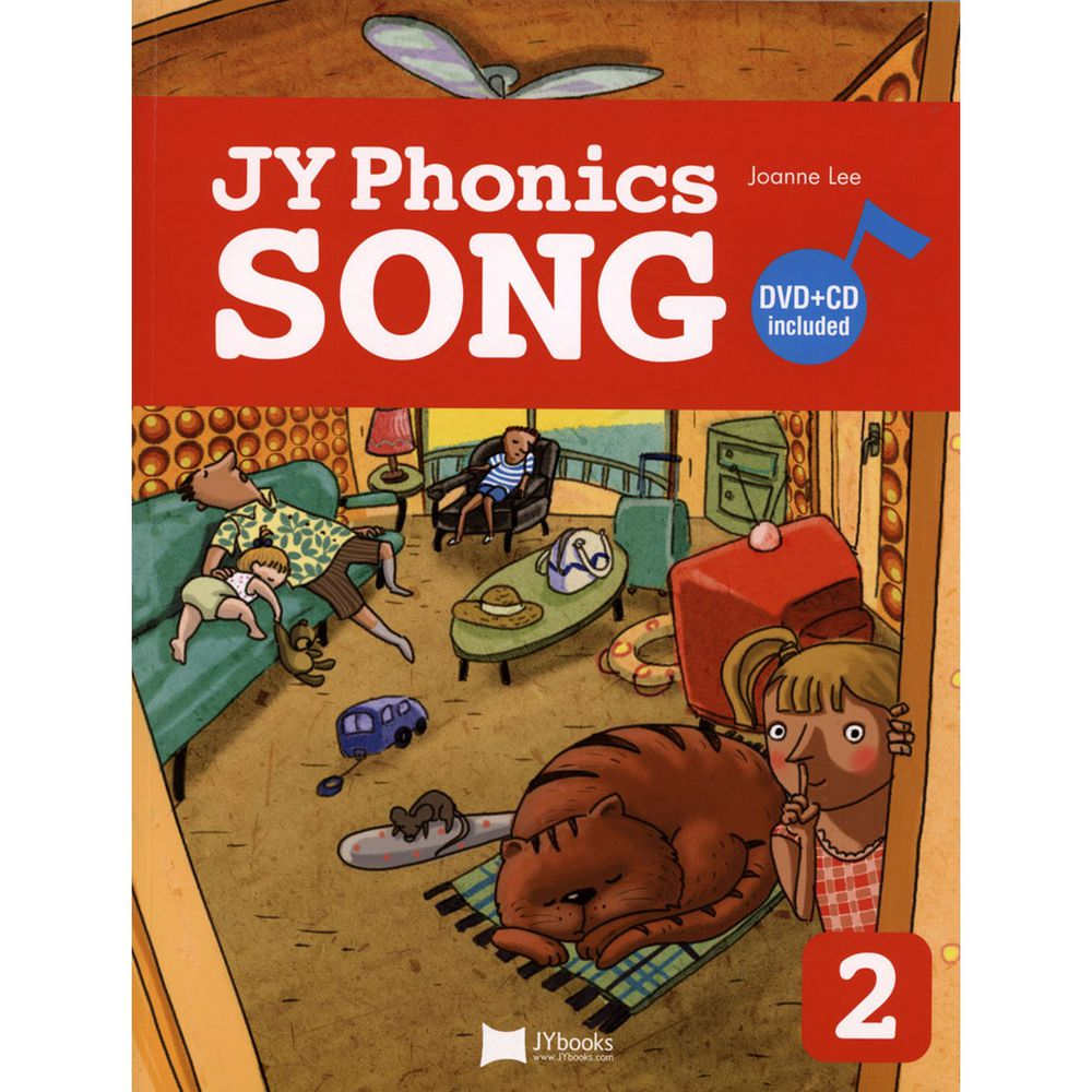 JY PHONICS SONG #2/BK-書+DVD+CD-平裝/彩色