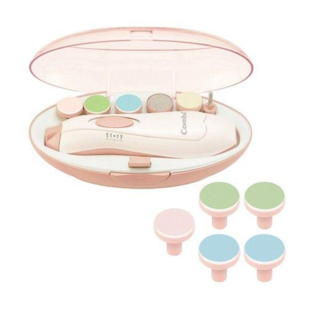 日本 Combi - 親子電動磨甲機-磨甲機+磨片組-櫻花粉