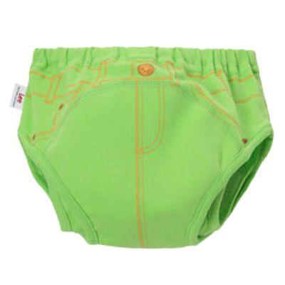 三層防側漏學習褲-綠
