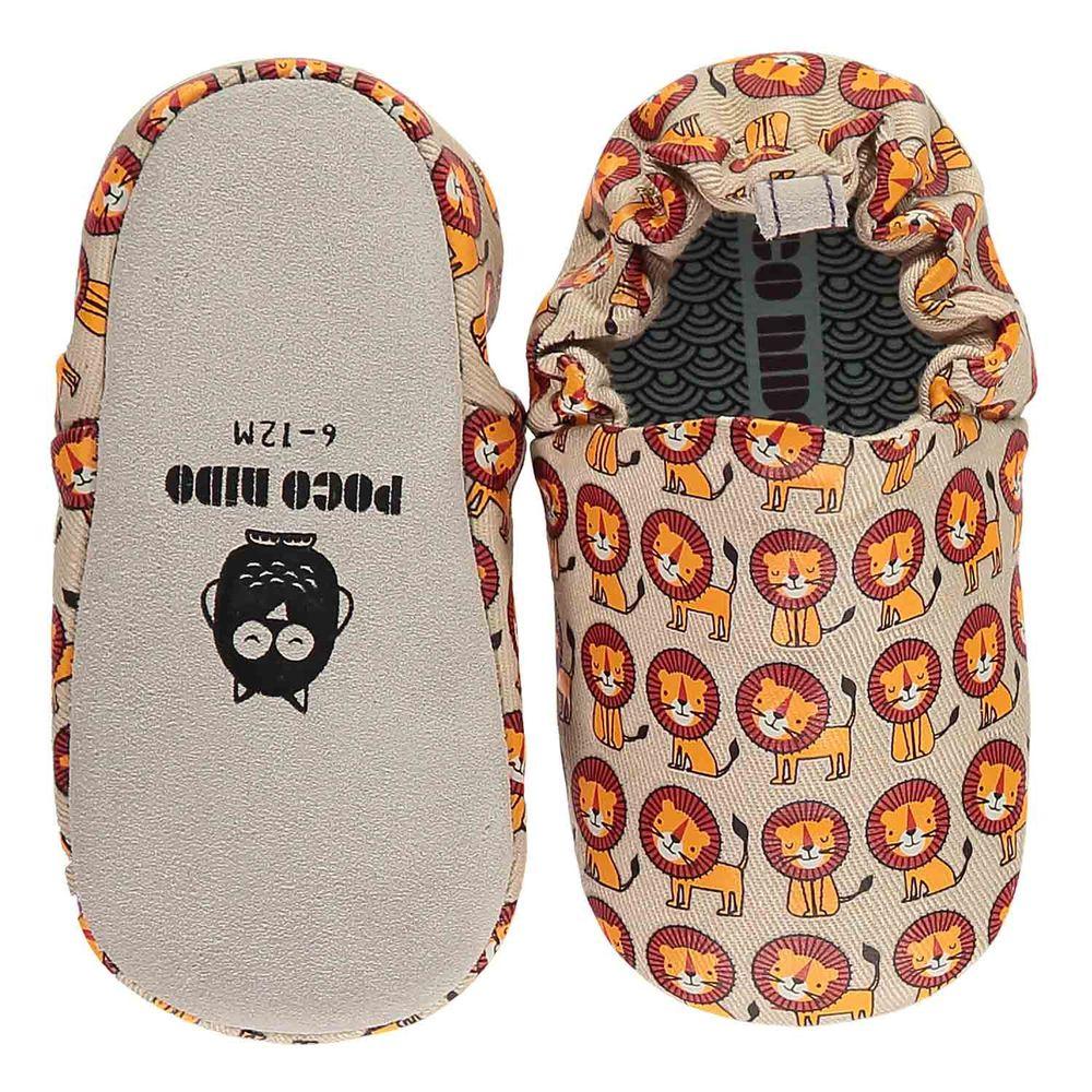 英國 Poconido - 寶寶手工鞋/學步鞋-快樂小獅