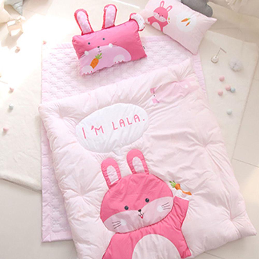韓國 Teepee - 四季用睡袋/寢具7件組(無拉鏈)(附收納袋)-粉嫩小兔子