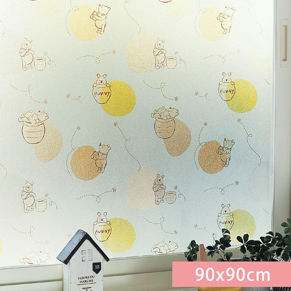 日本千趣會 - 迪士尼 日本製 90%抗UV光影窗貼(靜電式)-小熊維尼 (90x90cm)