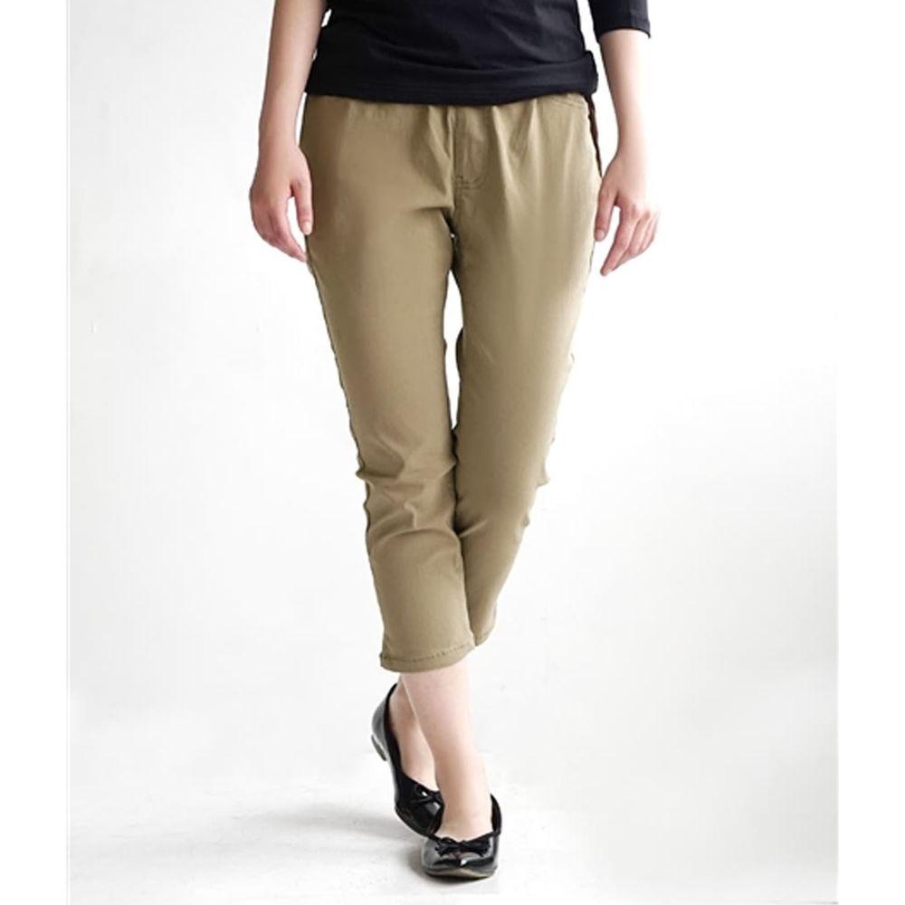 日本 zootie - Air Pants 輕薄彈性修身七分褲-杏褐