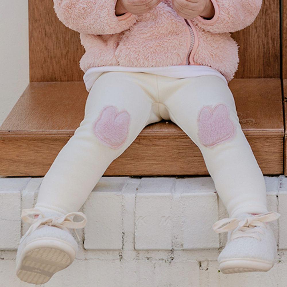 韓國 Bebezoo - 兔子補丁內搭褲-米
