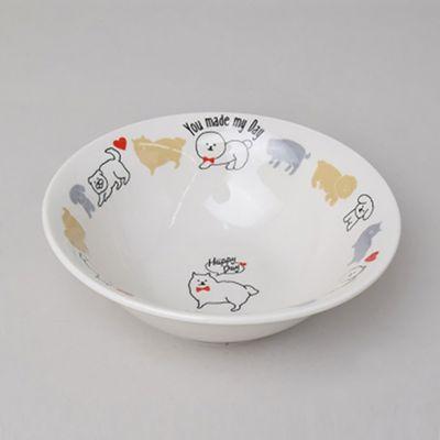 可愛小狗插畫湯碗-Φ15x5cm