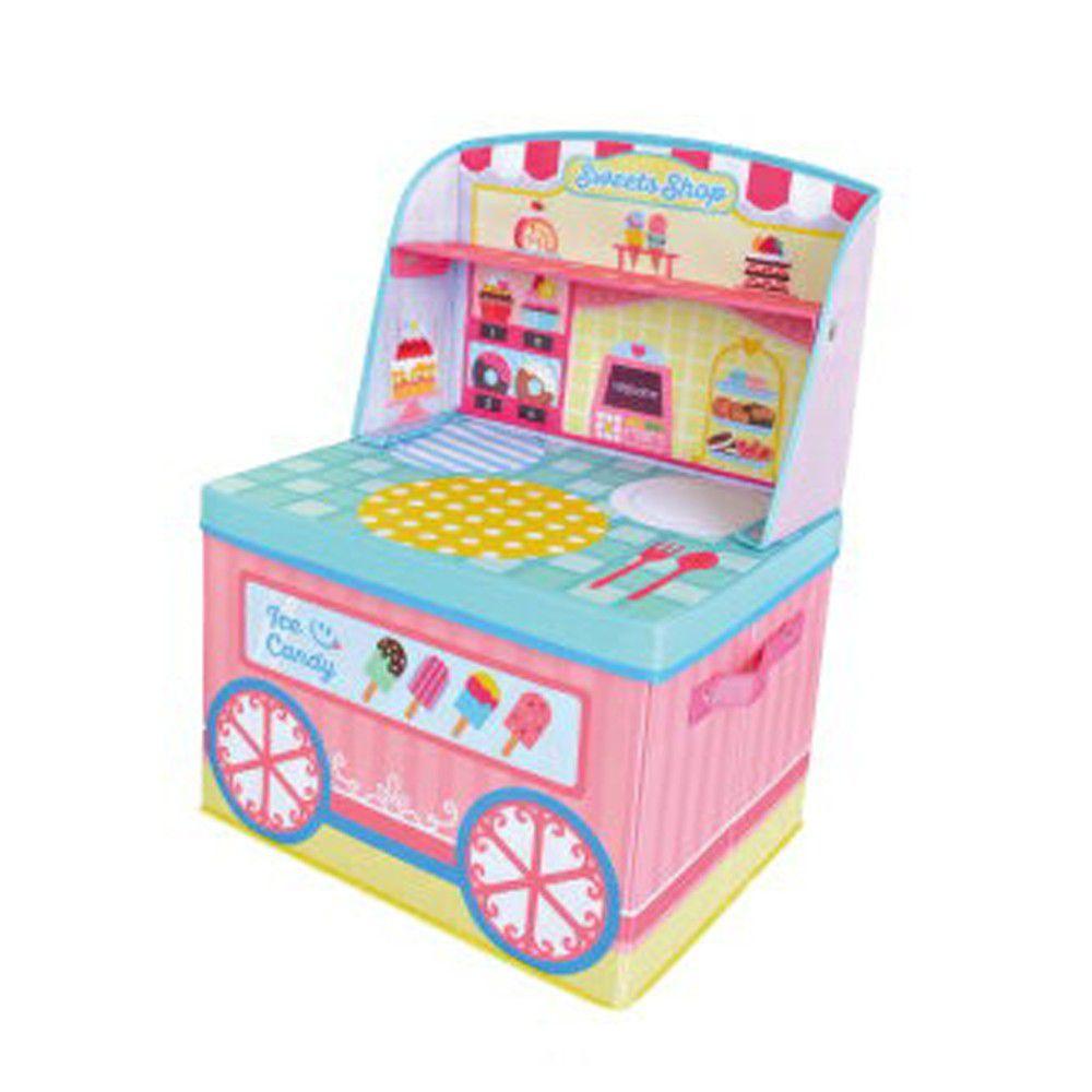 日本 U-COMPANY - 小書桌型折疊收納箱-甜點店