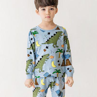 (現貨)薄款無螢光棉長袖家居服-月光恐龍