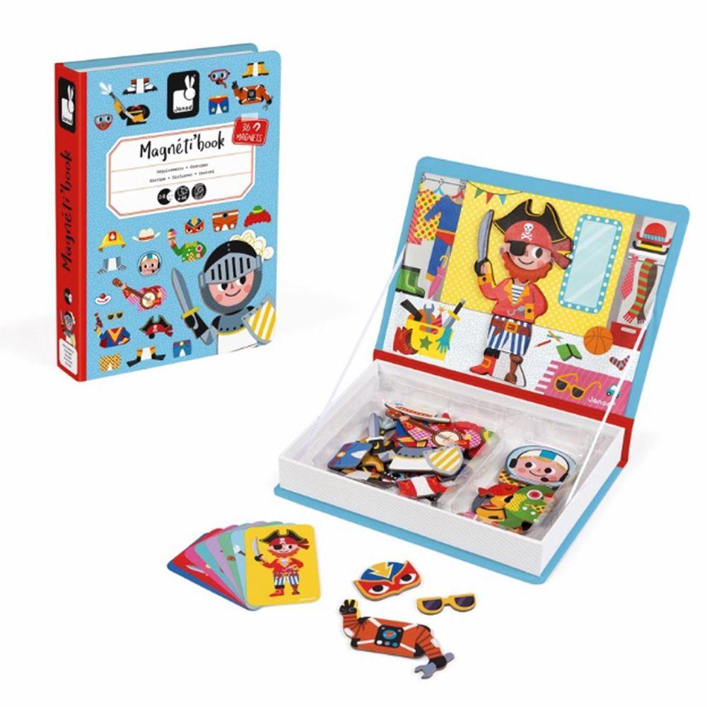 Janod - 【熱賣】磁鐵遊戲書-男孩變裝秀