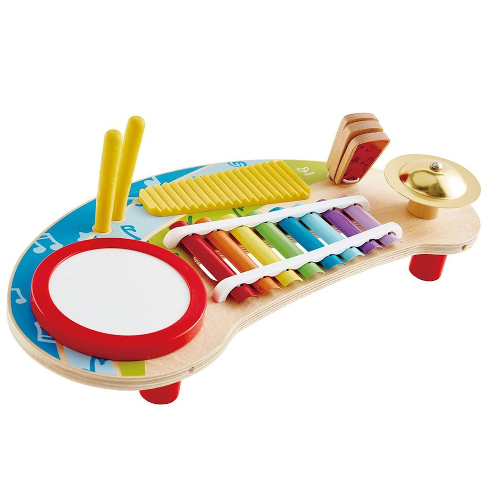 Hape - 五合一音樂敲敲琴(音樂啟蒙玩具)
