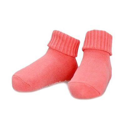 反摺半筒襪-糖果粉