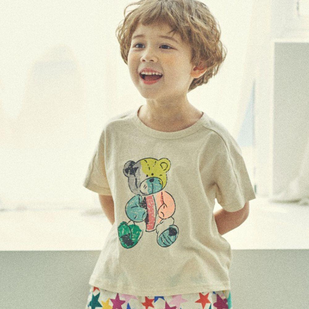 韓國 Mimico - 果凍熊純棉T-象牙白