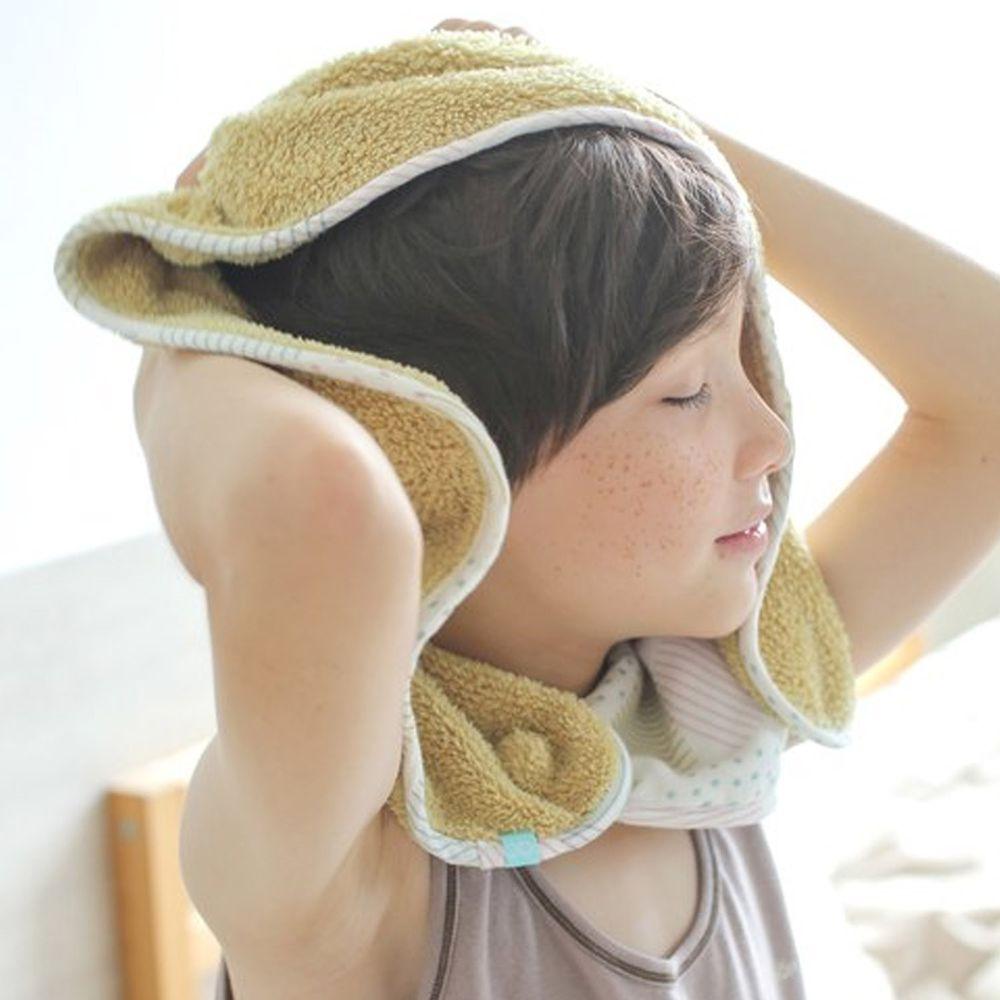 minihope美好的親子生活 - 可以扣的球球巾-芥黃 (30x75cm)