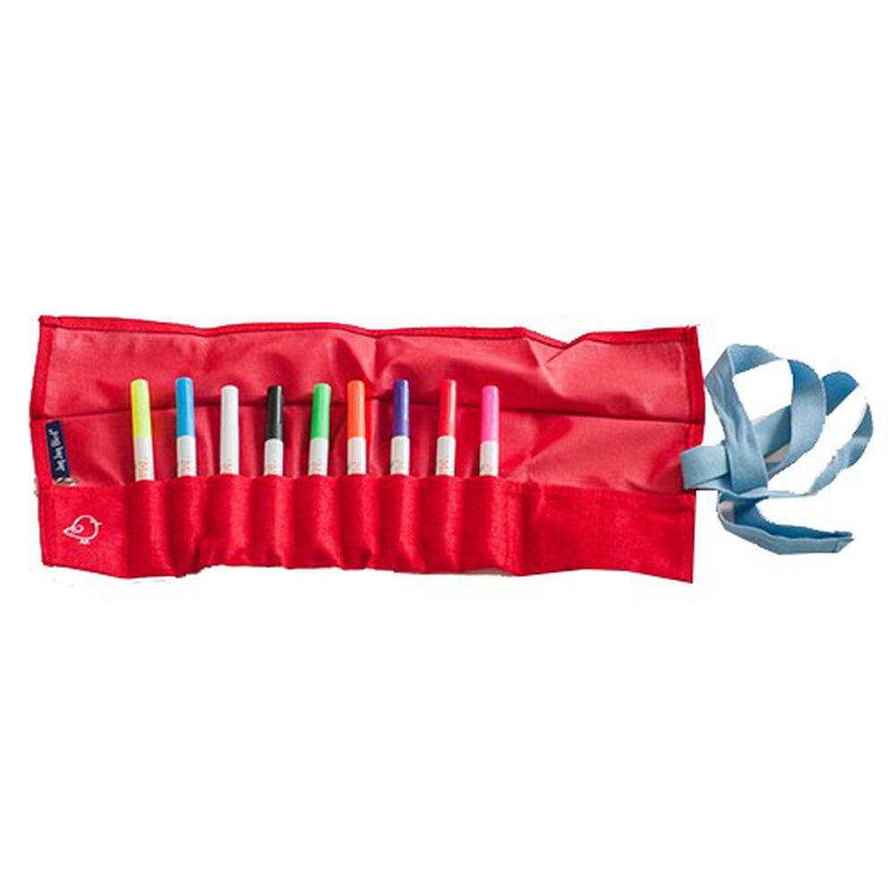 美國Jaq Jaq Bird - 小畫家筆袋-紅色-(不含粉筆)