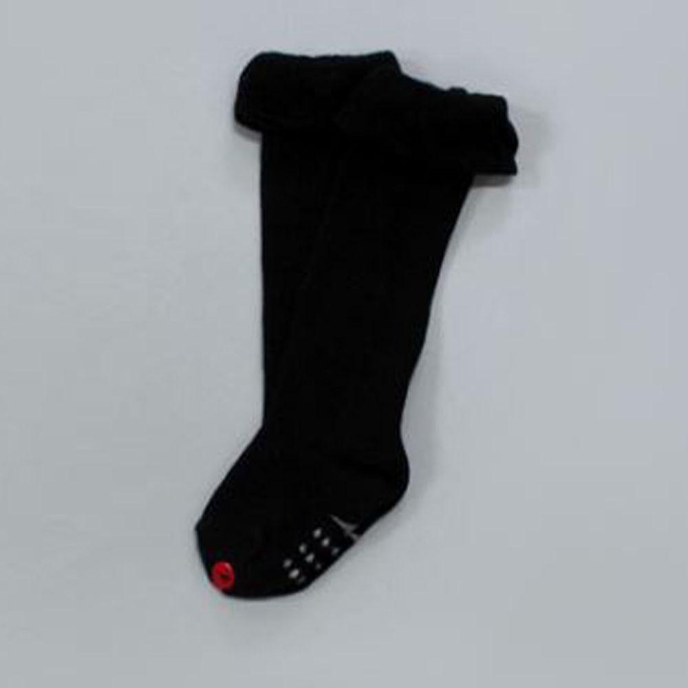 韓國 Kokacharm - 韓國製及膝襪-單件-Fly up Ver_黑色 (XS [11cm以下])