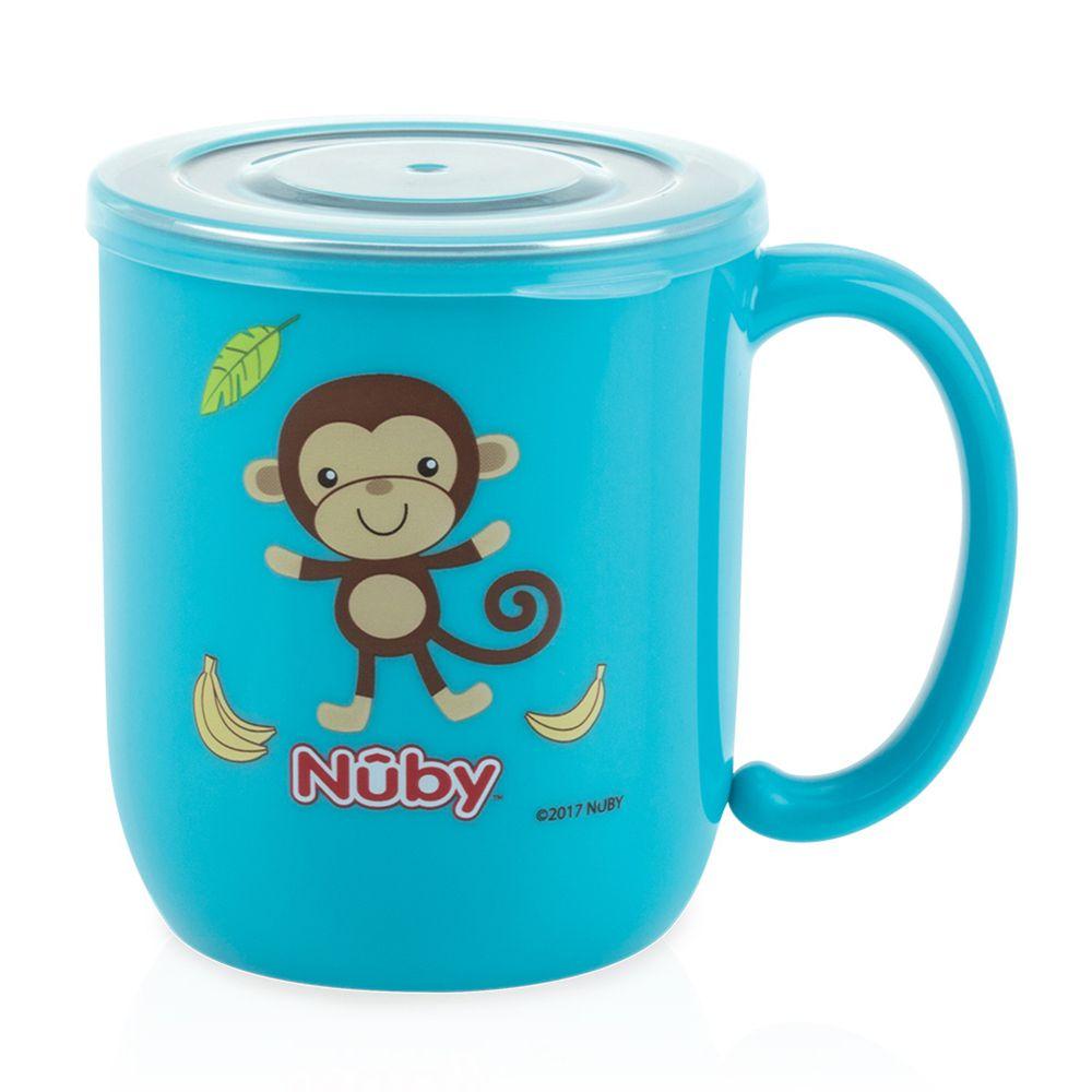 Nuby - 不銹鋼喝水杯-藍