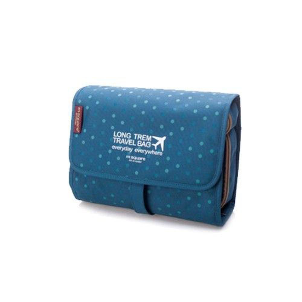 m square - 旅行收納化妝包 (大)-點點藍