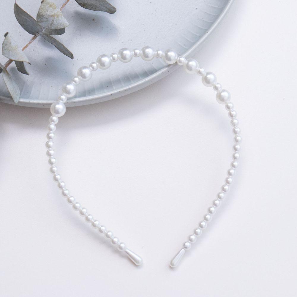 甜美法式珍珠髮箍