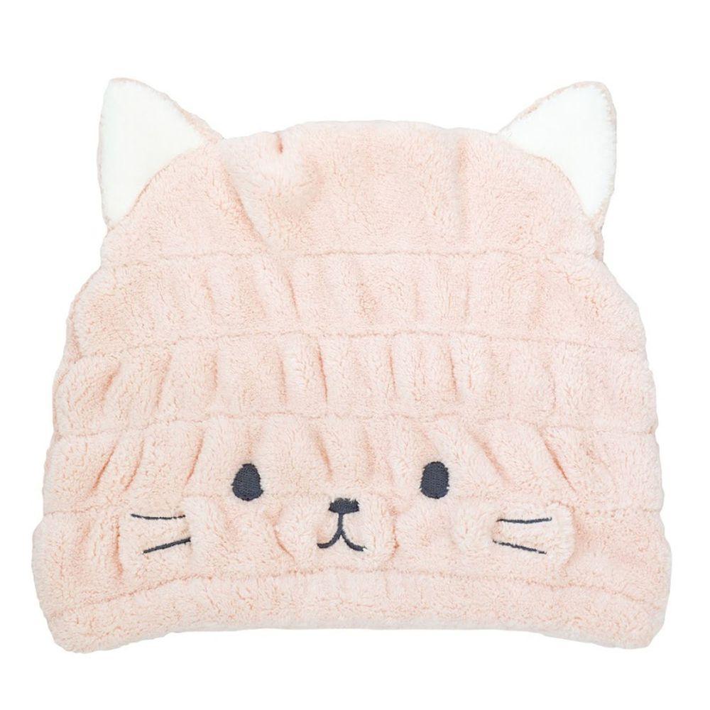 日本 CB JAPAN - 動物造型超細纖維浴帽-小貓粉 (W230 X D200 X H15mm)