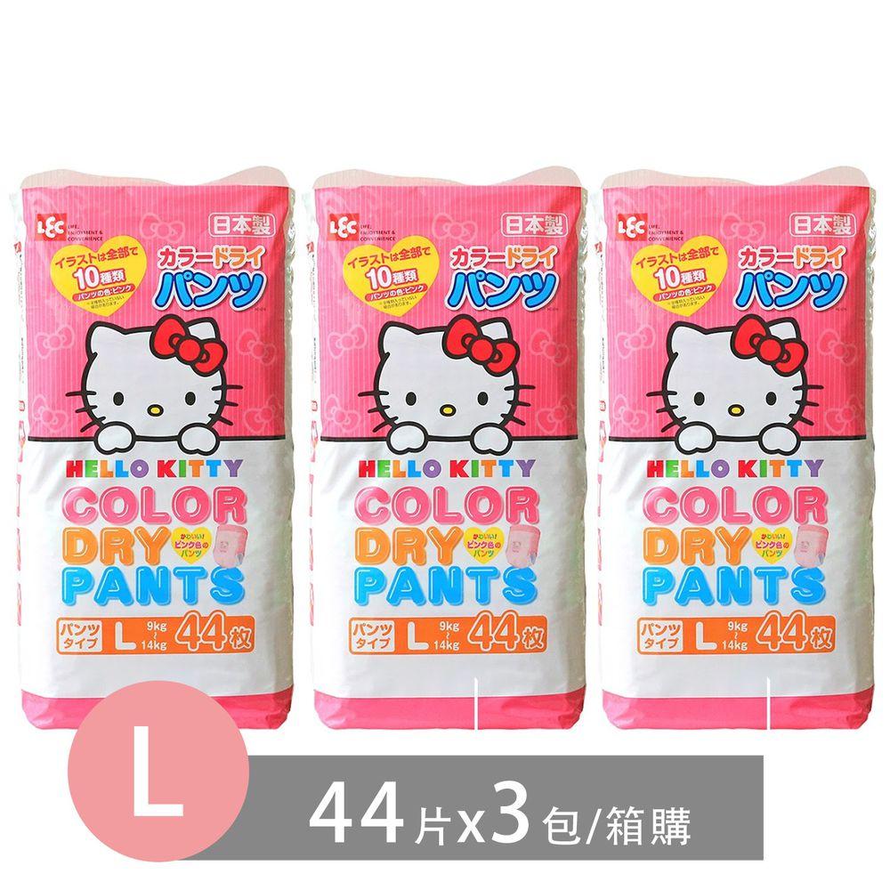 日本 LEC - 日本境內版Hello Kitty粉紅凱蒂褲箱購組-(L 9~14 Kg)-132片入