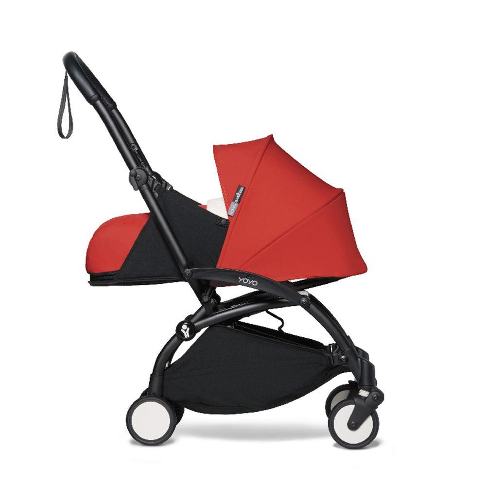 法國BABYZEN YOYO+ - 2020新款秒收可登機手推車含新生兒套件-黑管-紅-0m+