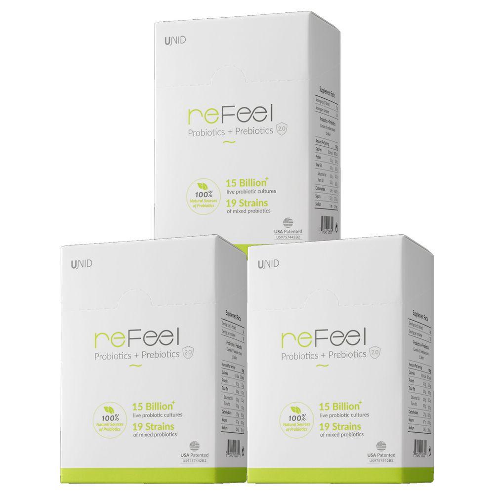 美國 UNID - reFeel益生菌(健康組)-30入/盒x3盒