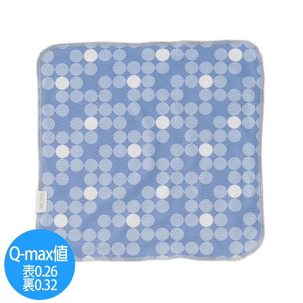 日本小泉 - UV cut 90% 接觸冷感 水涼感手帕-漸層波點-水藍 (23x23cm)
