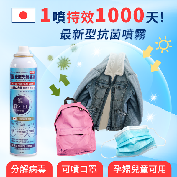 【日本專利 最新型光觸媒抗菌劑】SARS期間總統府御用
