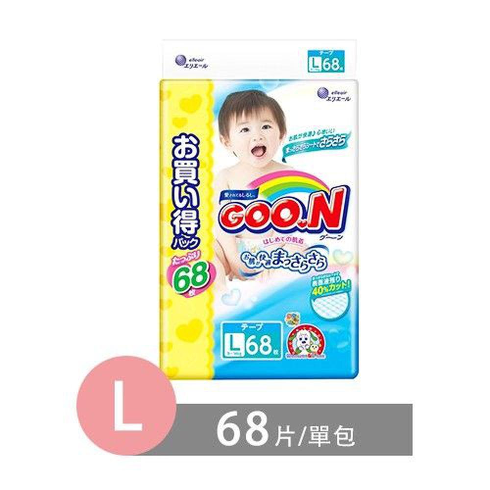 GOO.N - 日本境內大王NHK阿福狗限定版尿布-黏貼型 (L [9-14 kg])-68片/包