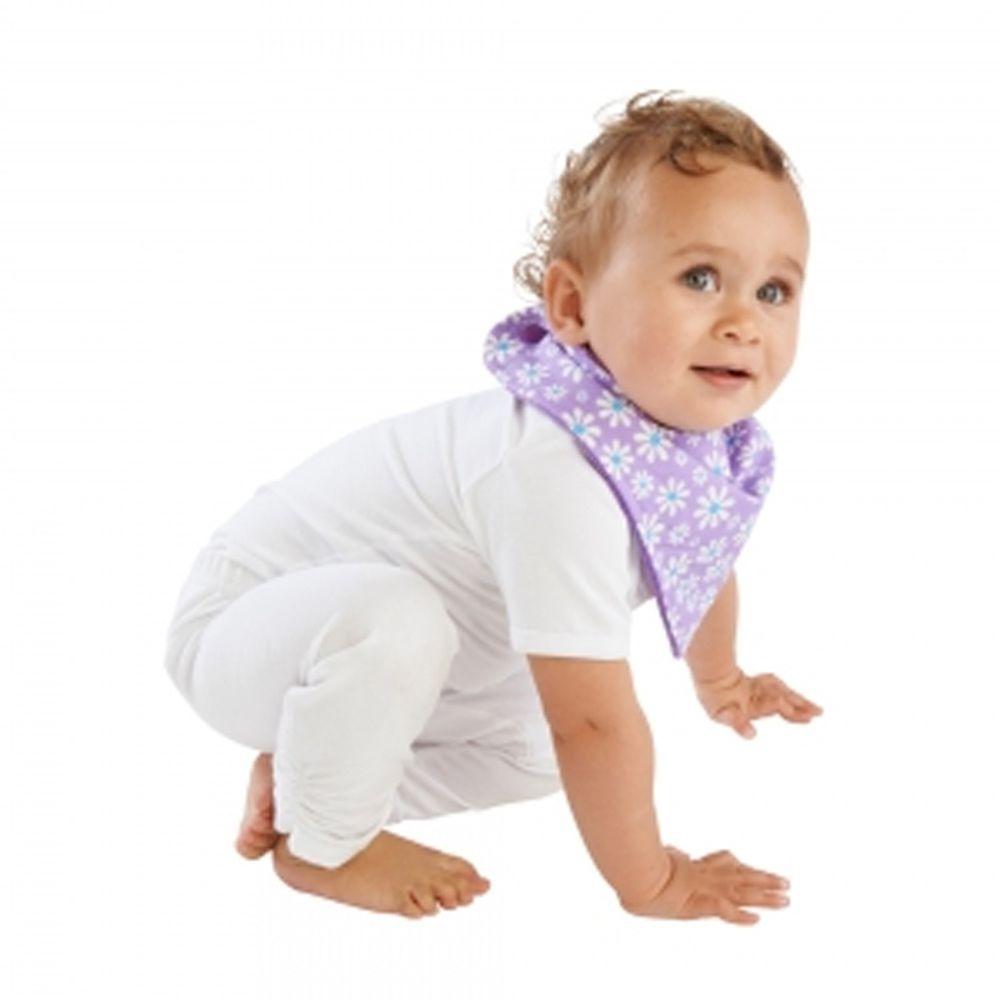 Mum 2 Mum - 雙面時尚造型口水巾圍兜-雛菊紫