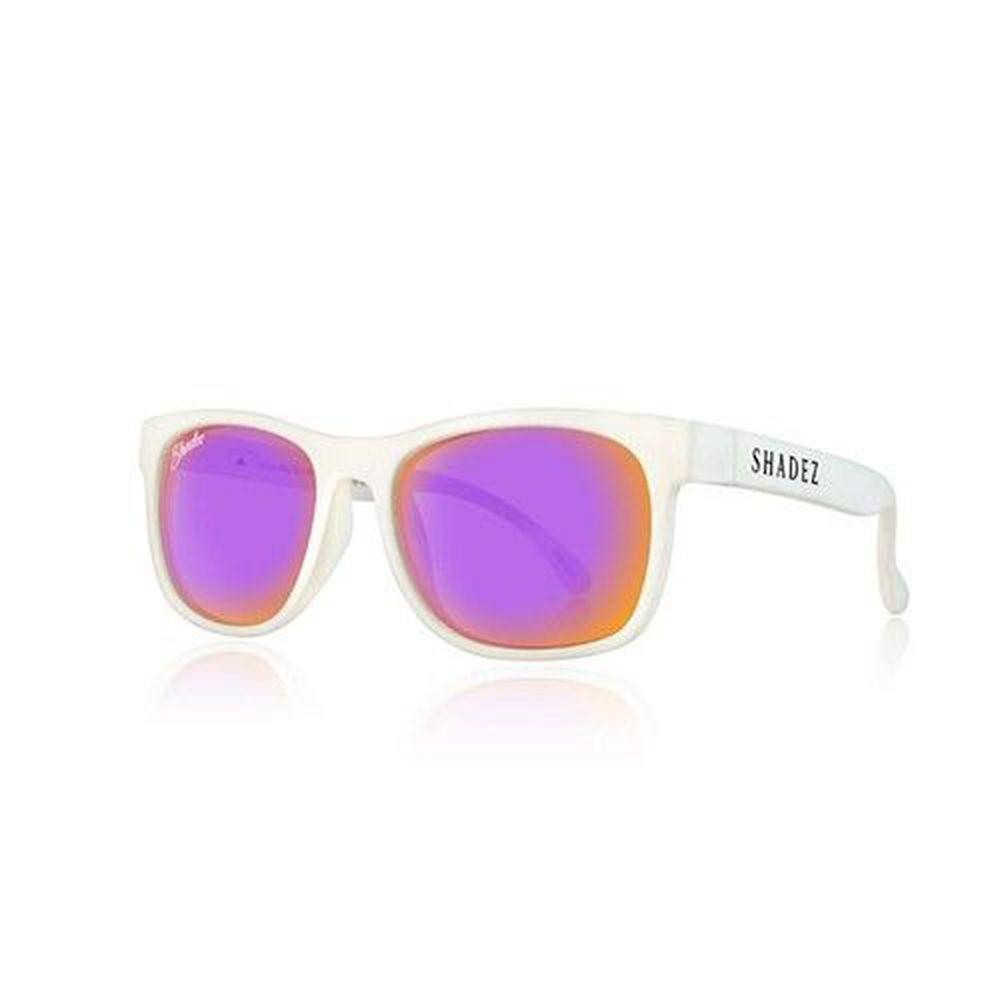 SHADEZ - 成人偏光太陽眼鏡-白框新潮紫