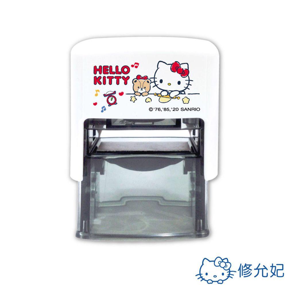 吉祥刻印 - Hello Kitty橡皮事務回墨印-藍色墨-印面尺寸:2.6x1.0公分