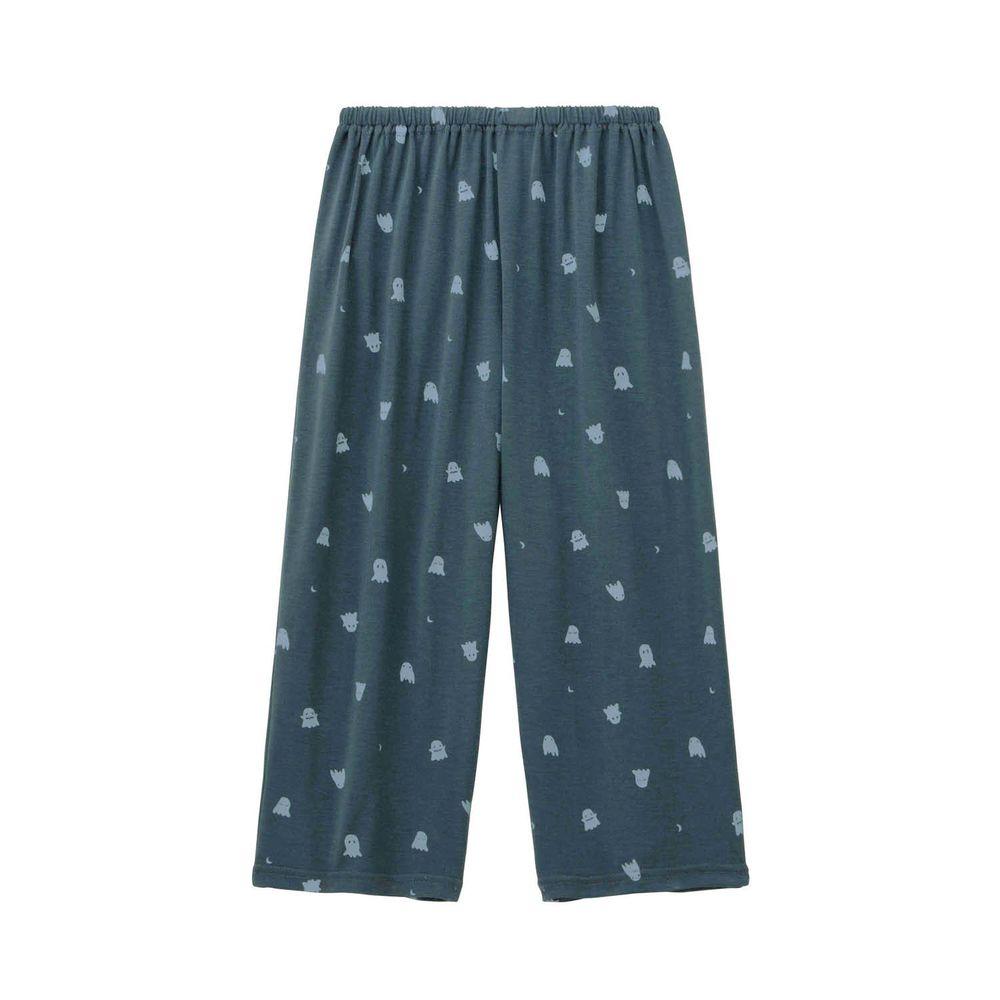 日本千趣會 - (媽媽)接觸涼感舒適睡褲/家居長褲-小幽靈-深藍