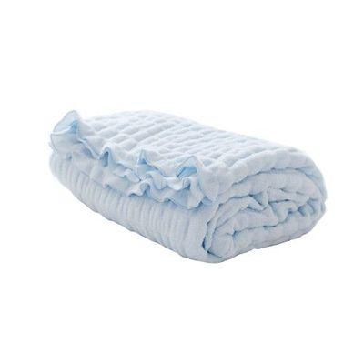日本製棉花糖毛巾被-藍 (140 x 200cm)