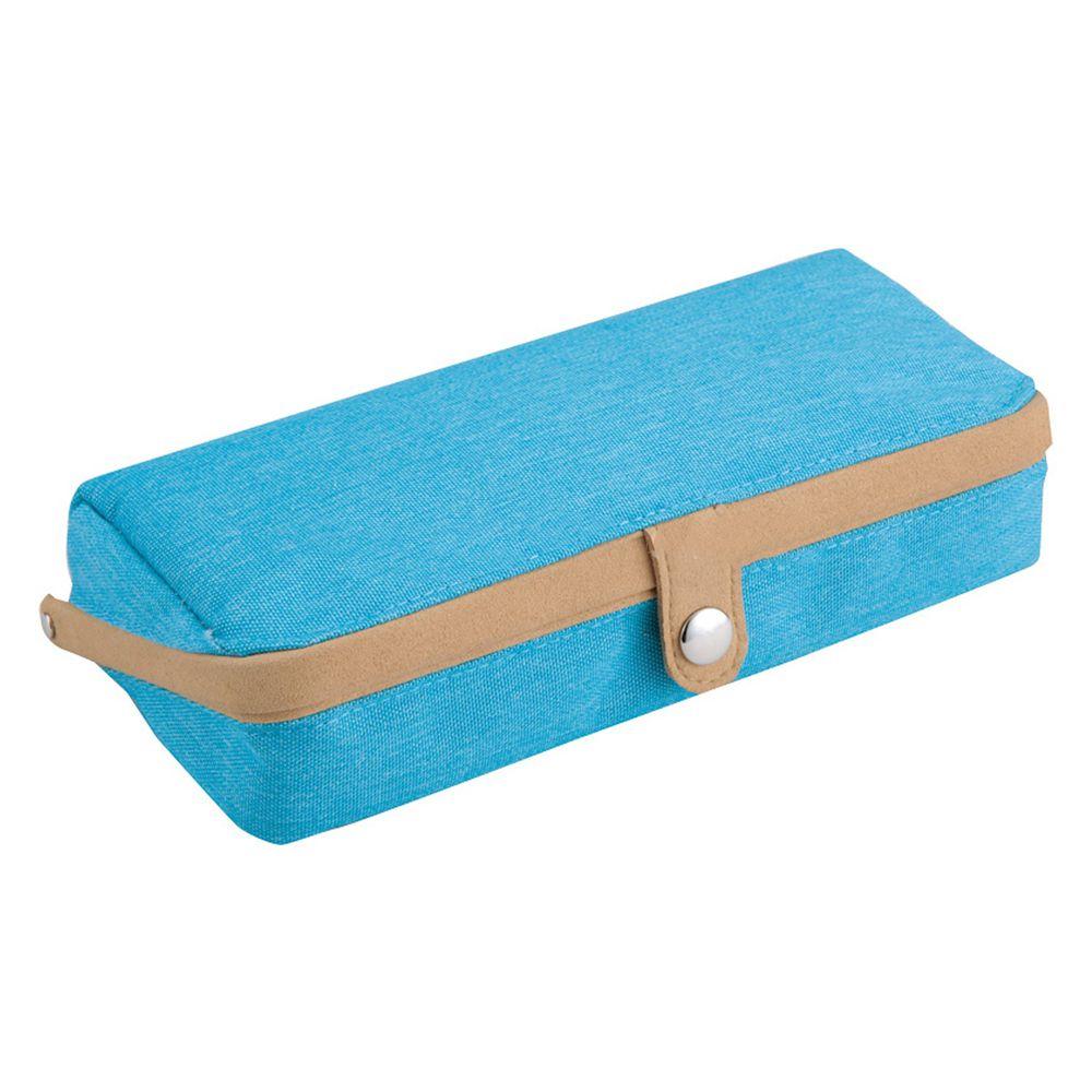日本文具代購 - 大容量大開口鉛筆盒-水藍 (22x5x10cm)