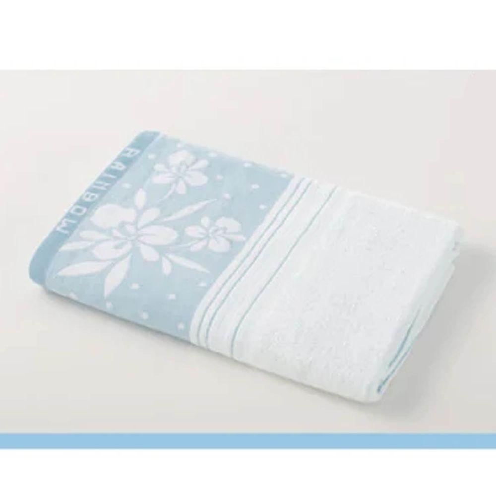 貝柔 Peilou - 高級純棉大浴巾-蘭花系列-粉藍 (70x145cm)