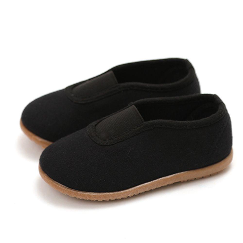 韓國 OZKIZ - 純棉透氣兒童休閒鞋/室內鞋-黑