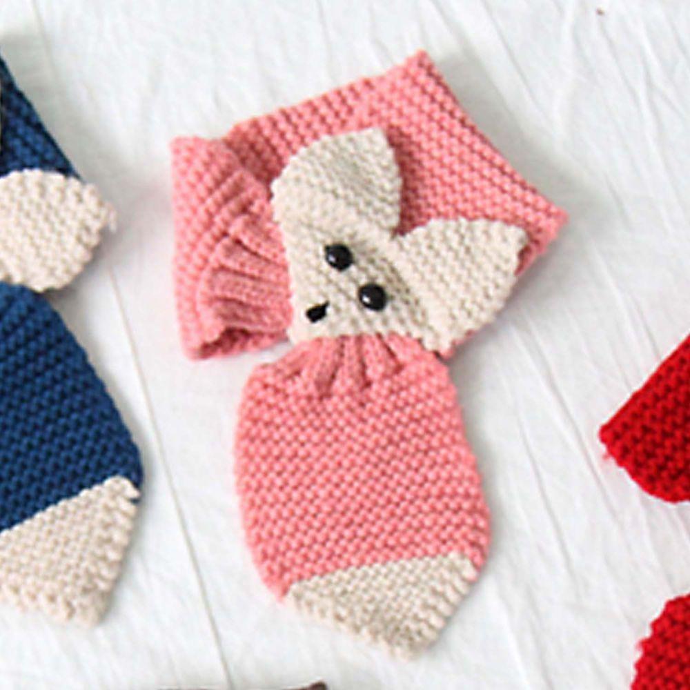 韓國 Babyblee - 狐狸針織圍巾-粉紅 (FREE)