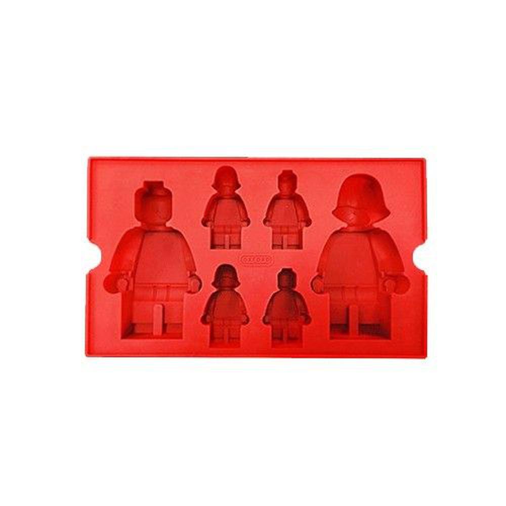 韓國 OXFORD - 樂高造型DIY模具-6格-紅色