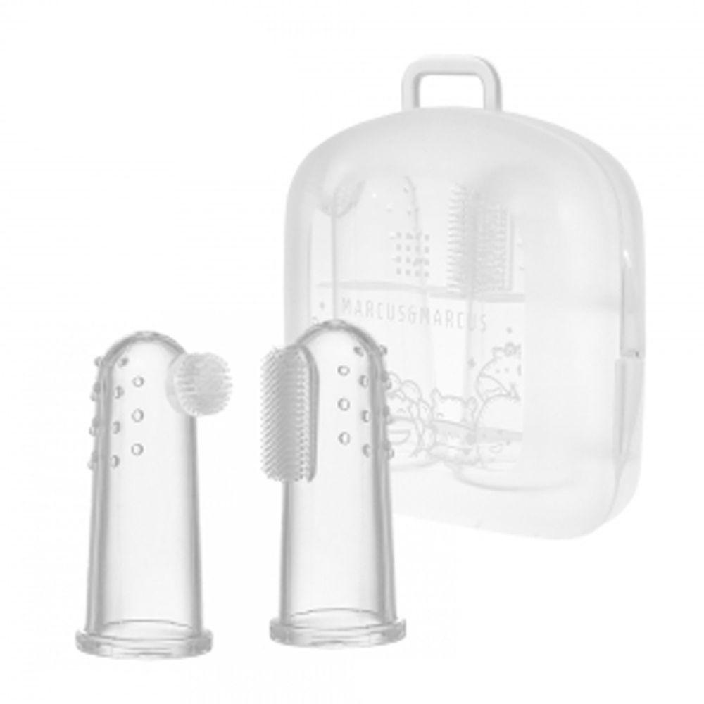 MARCUS&MARCUS - 指套乳牙刷2入組(含收納盒) (新生兒可用)
