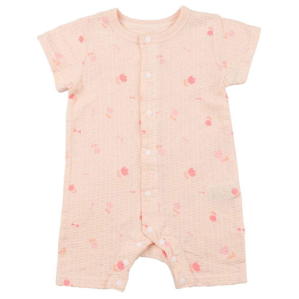 akachan honpo - 女短袖外出兔裝-粉紅色