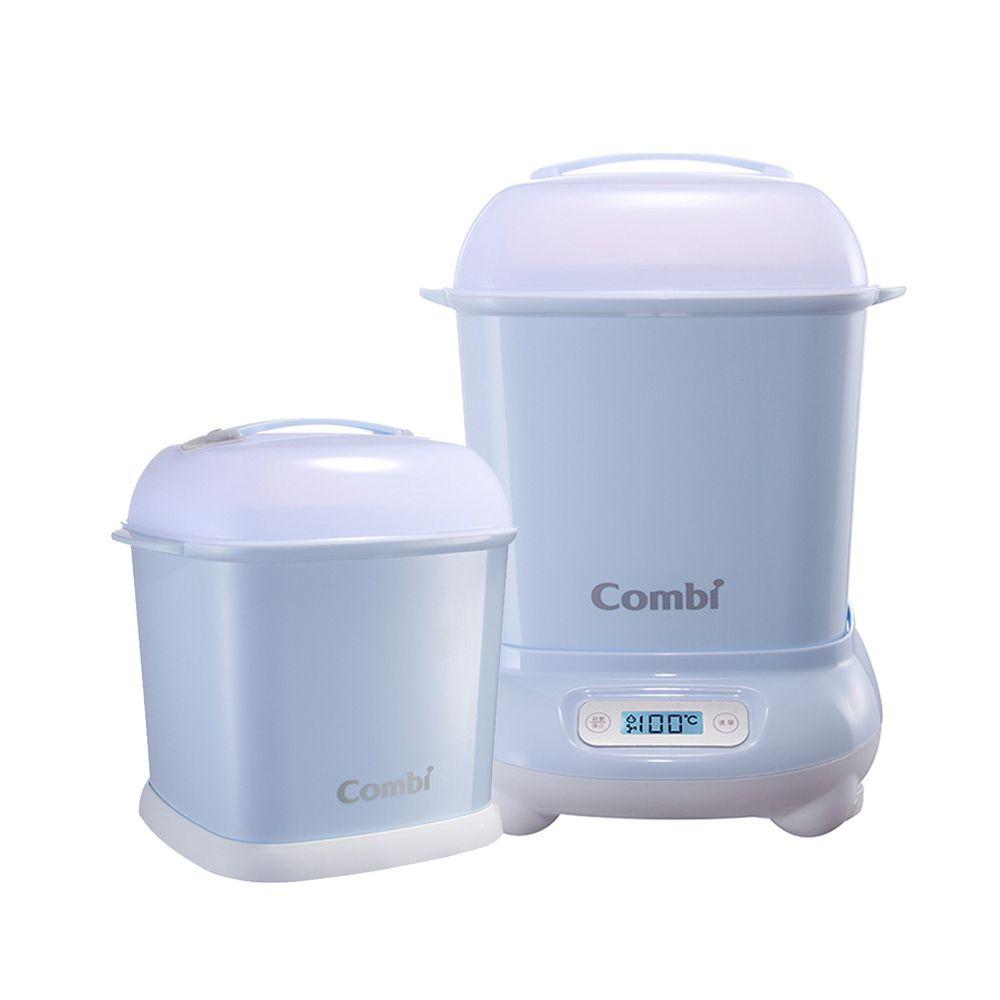 日本 Combi - Pro 360高效消毒烘乾鍋-1 + 1 實用組-靜謐藍-高效烘乾消毒鍋+奶瓶保管箱
