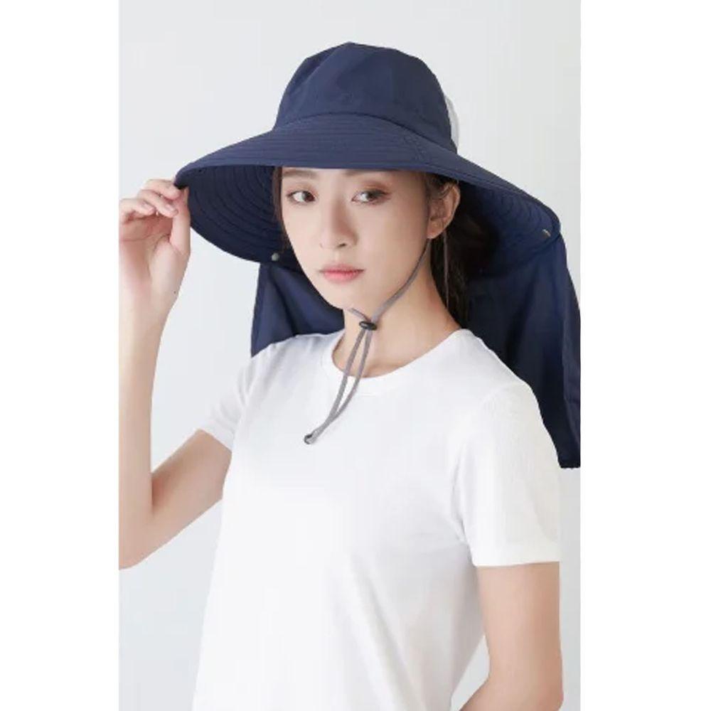 貝柔 Peilou - UPF50+多功能四折遮陽帽-丈青色 (頭圍:59cm)