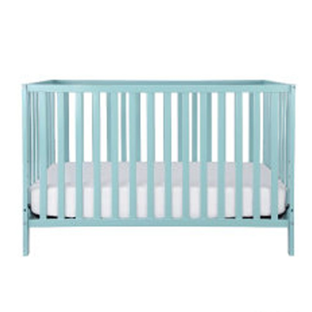 Rockland - 喬依思4合1環保漆實木嬰兒床-贈床墊 護欄-TIFFANY藍-70x130cm