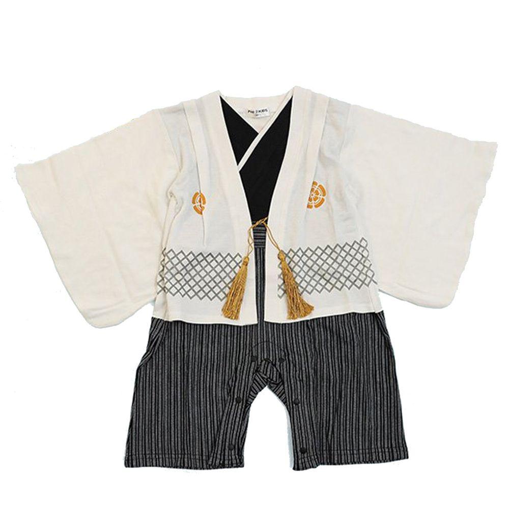 日本服飾代購 - 純棉日本傳統袴 和服(連身衣式)-白