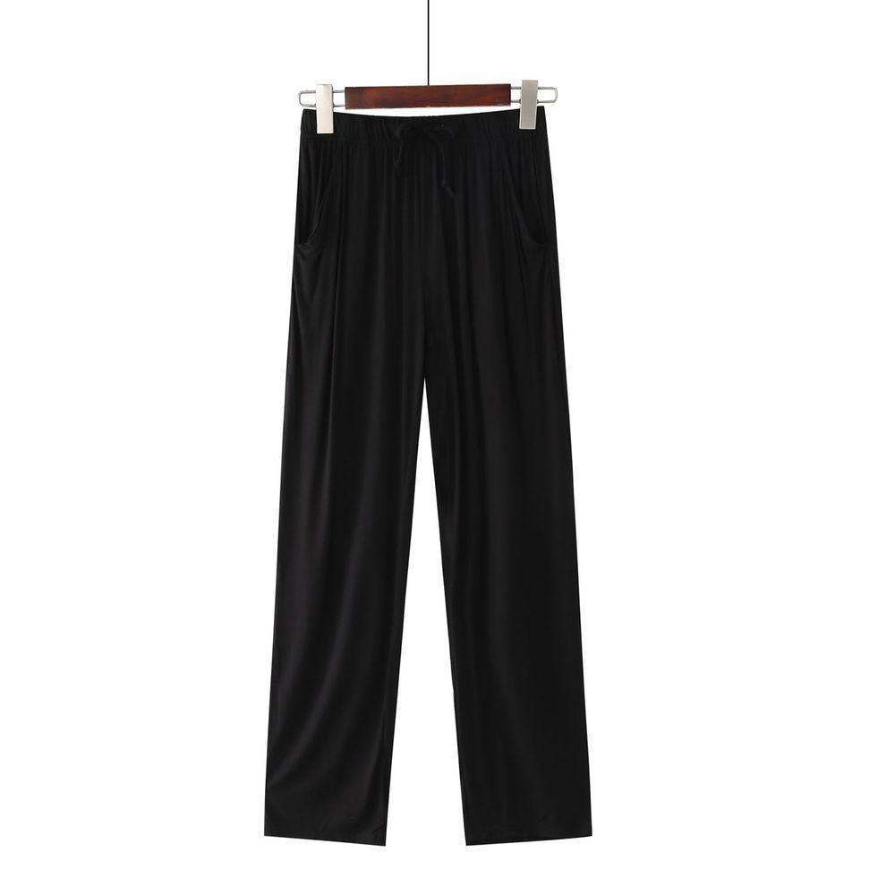 莫代爾柔軟涼感七分褲-黑色