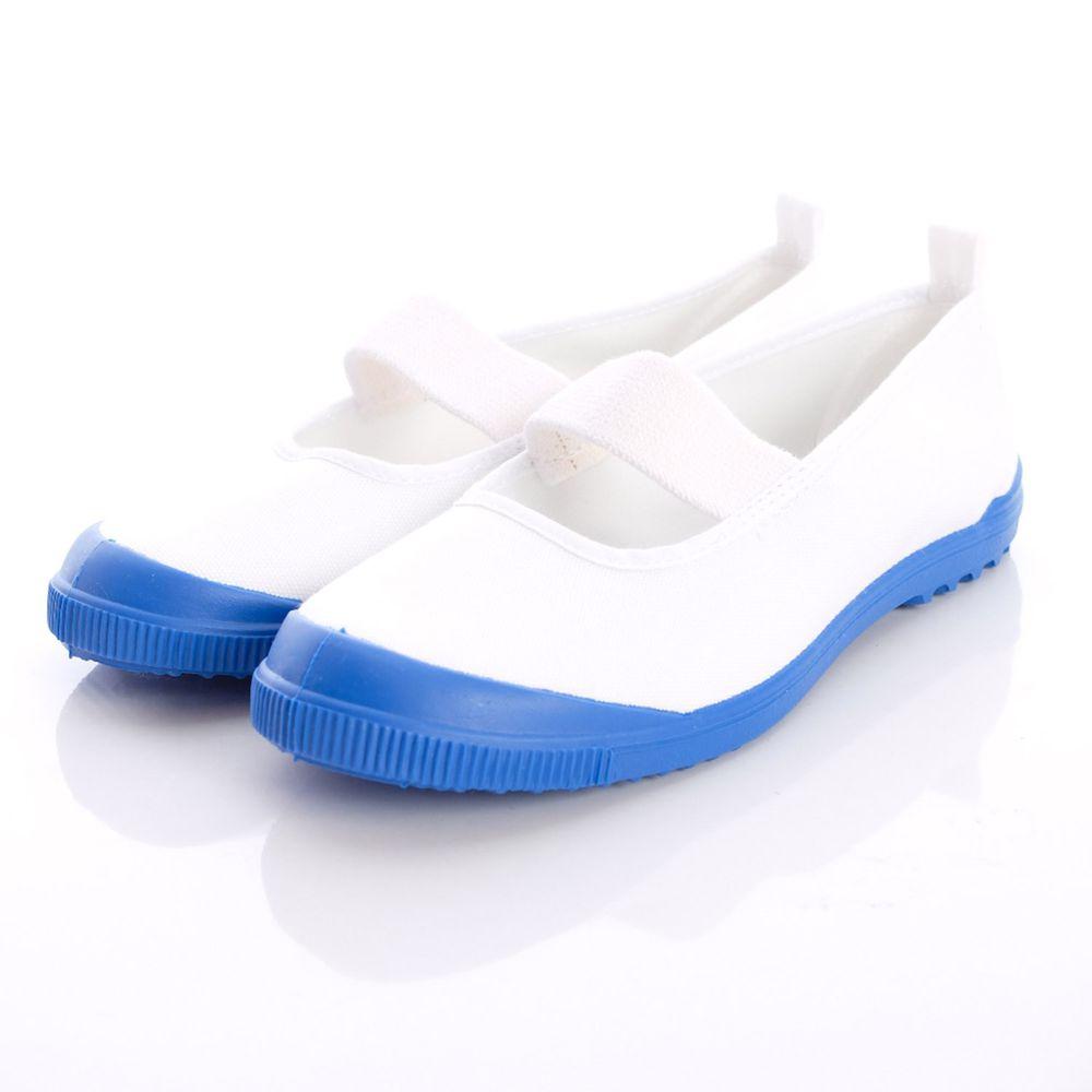 Moonstar日本月星 - 日本月星機能童鞋-2E日本製室內鞋基本款(中小童段)-藍白