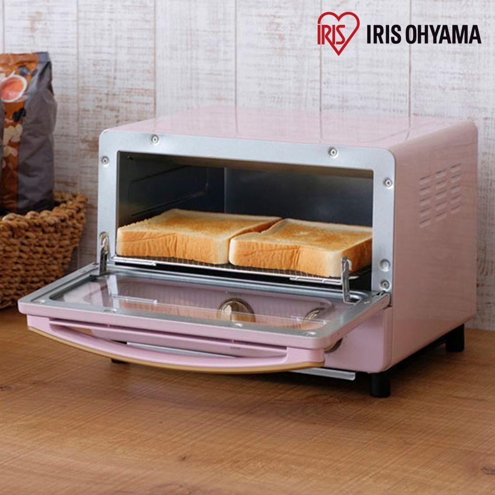 日本 IRIS OHYAMA - ricopa 經典烤箱-珊瑚粉