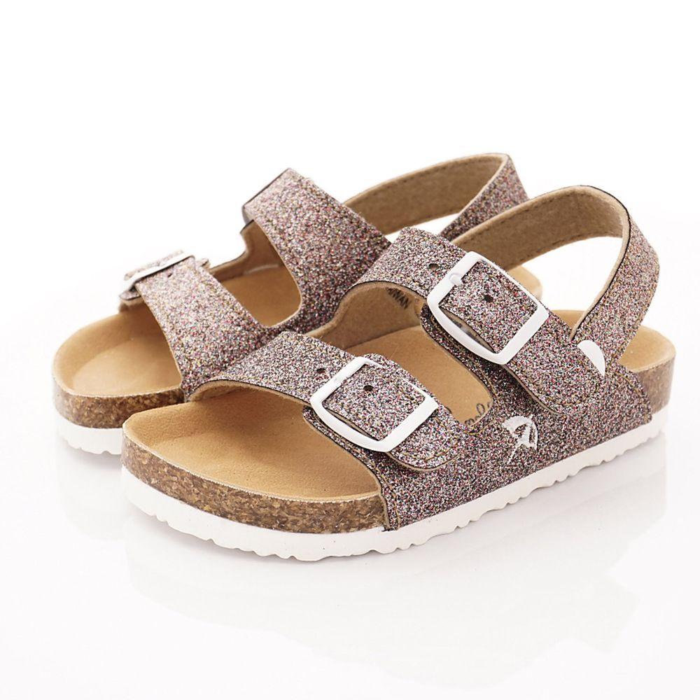Arnold Palmer 雨傘牌 - 卡通童鞋-專櫃晶亮軟木涼鞋款(中小童段)-粉紅